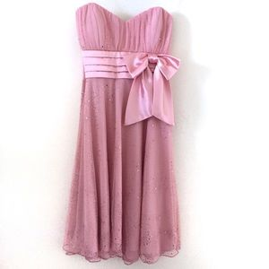 Poly USA Formal Pink Sweetheart Dress